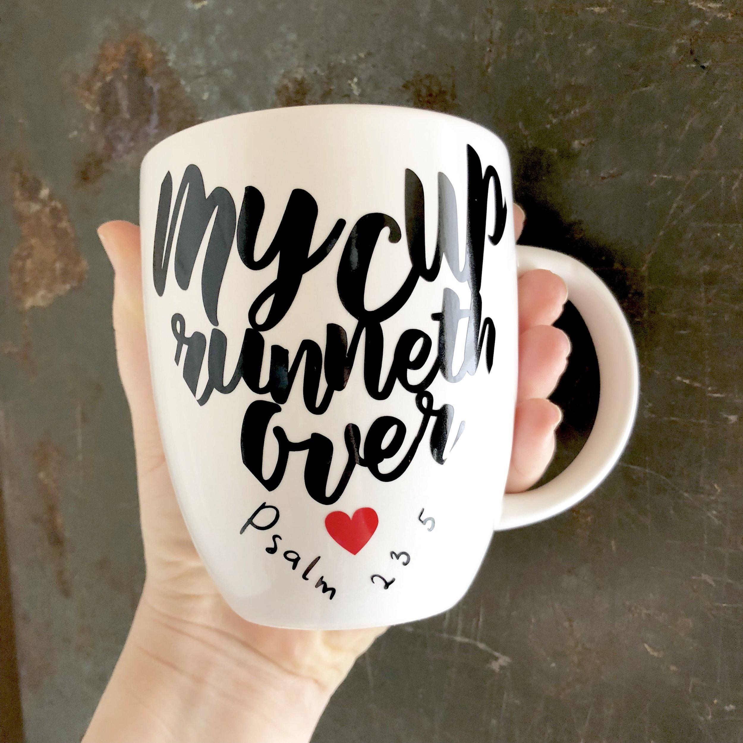 My Cup Runneth Over Mug - Block Paper Scissors