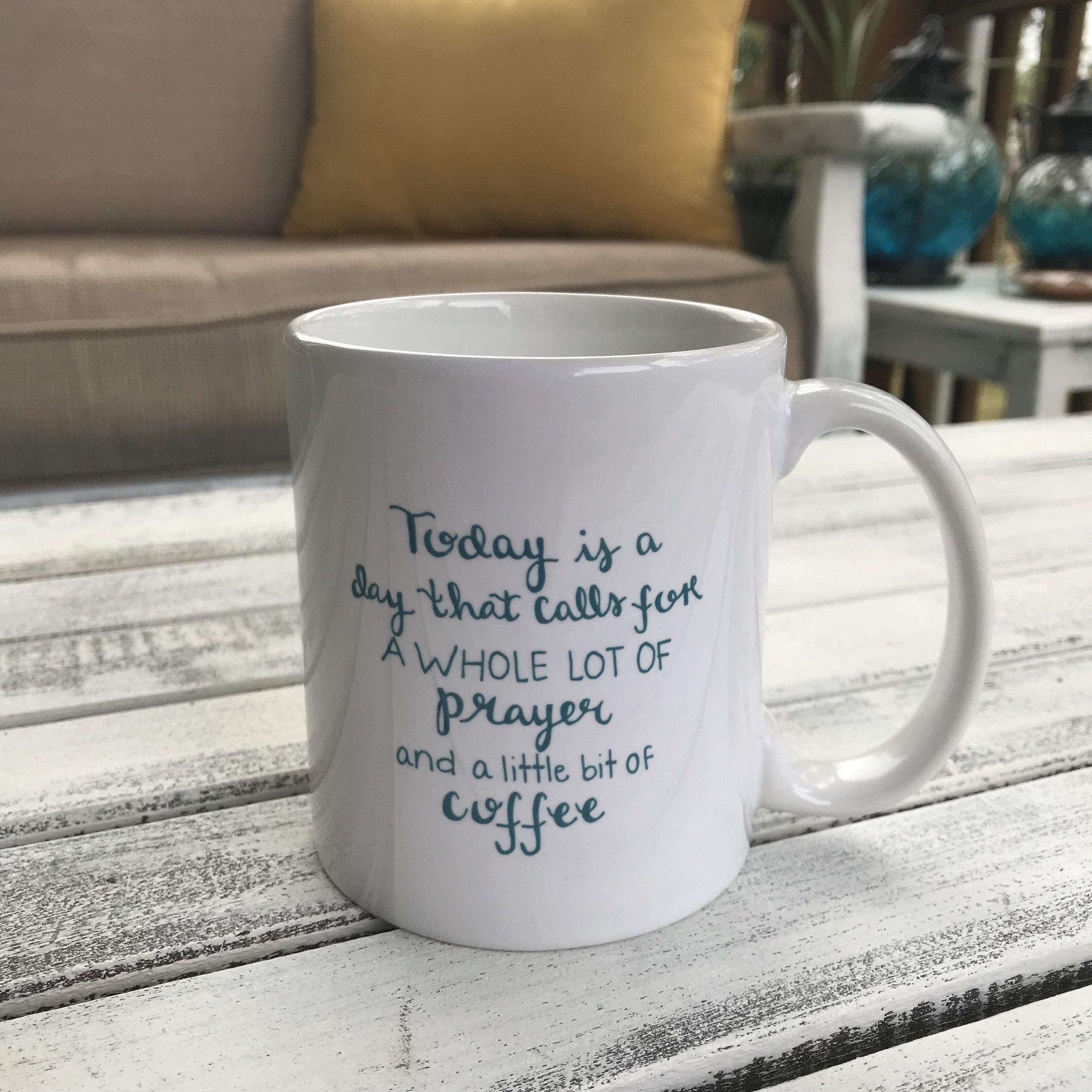 Prayer + Coffee Mug - Maya Palmer Designs