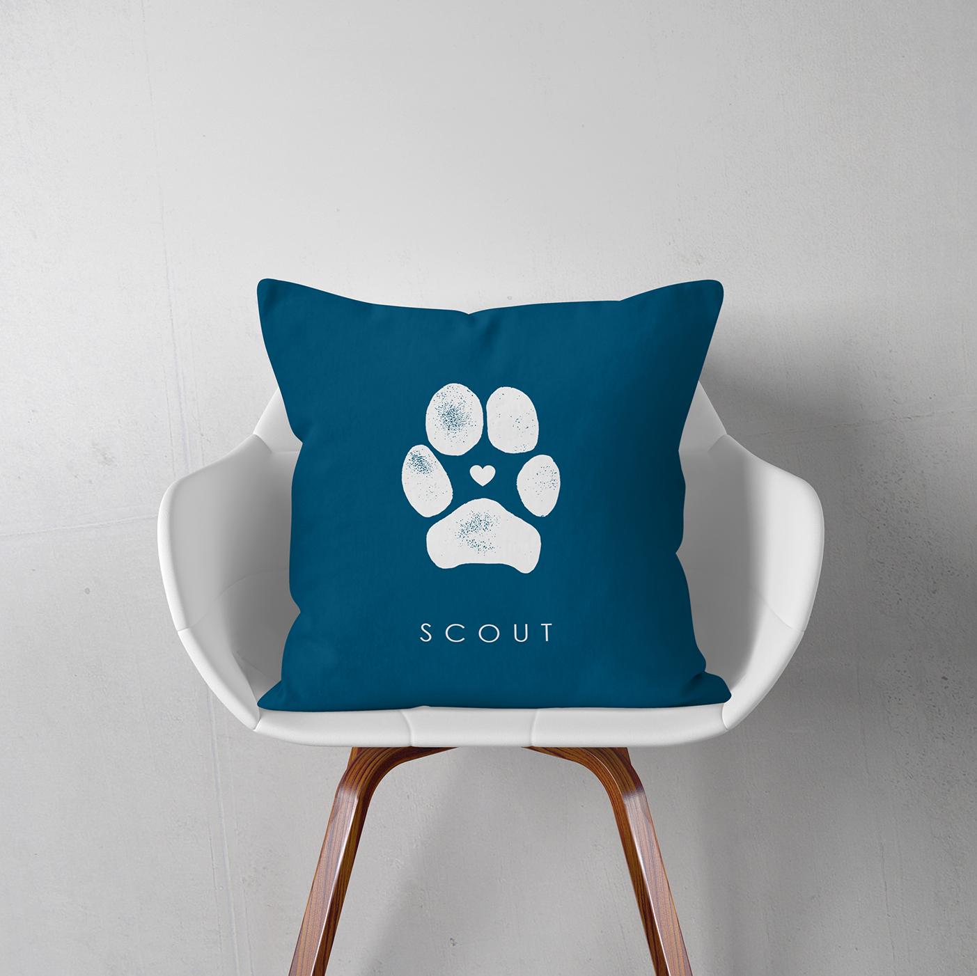 Personalized Pet Paw Pillow - FlutterBye Prints