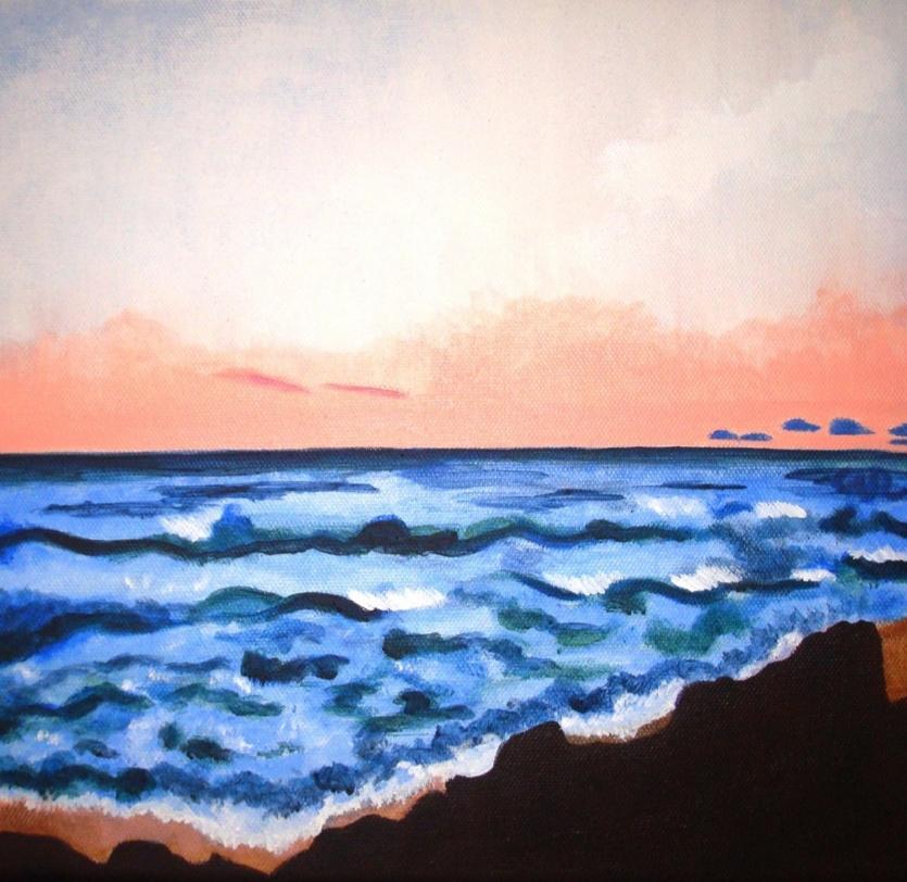 Sunset at Germaine's Beach Art Print - Champagne Reid