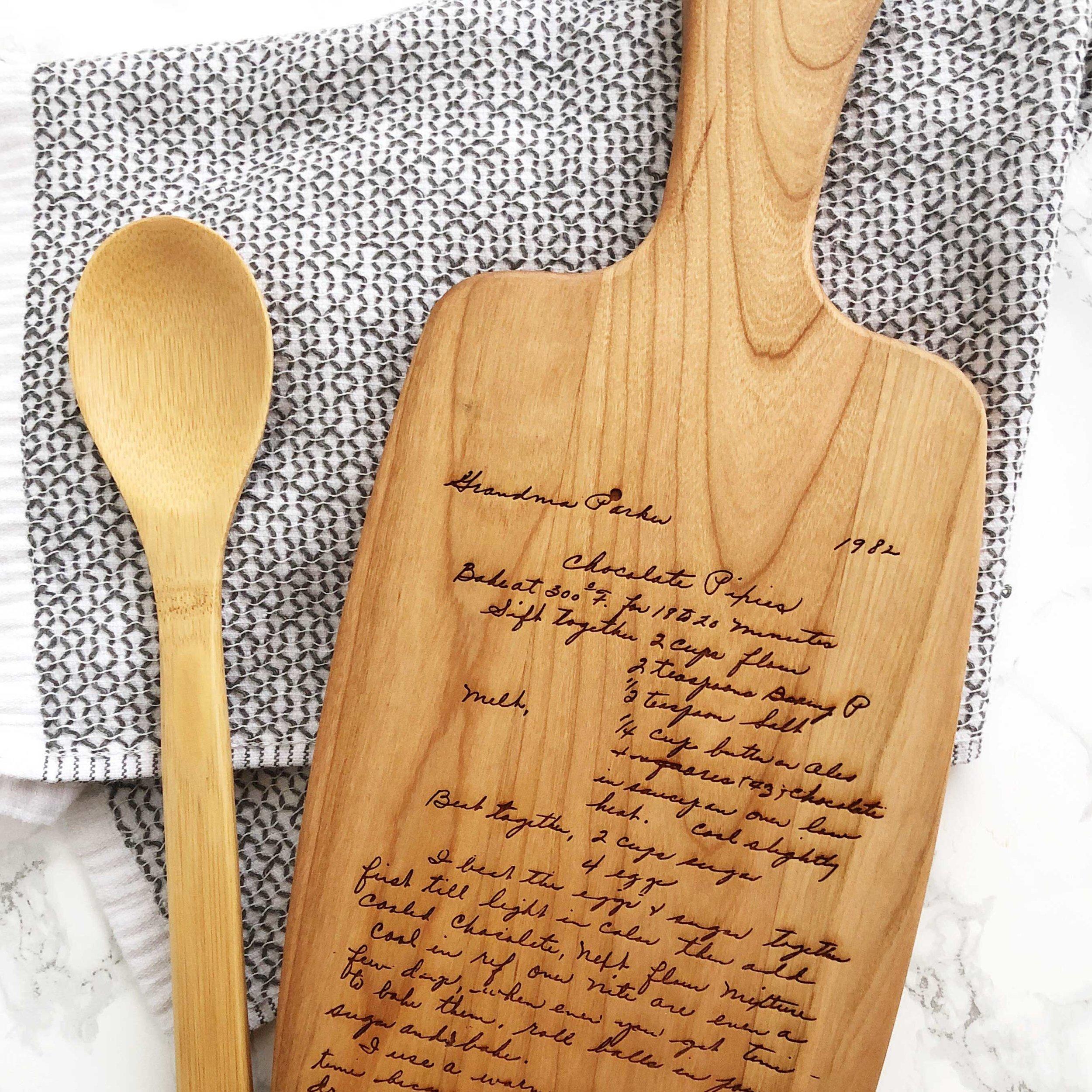 Personalized Recipe Cutting Board - Hello World Paper Co.
