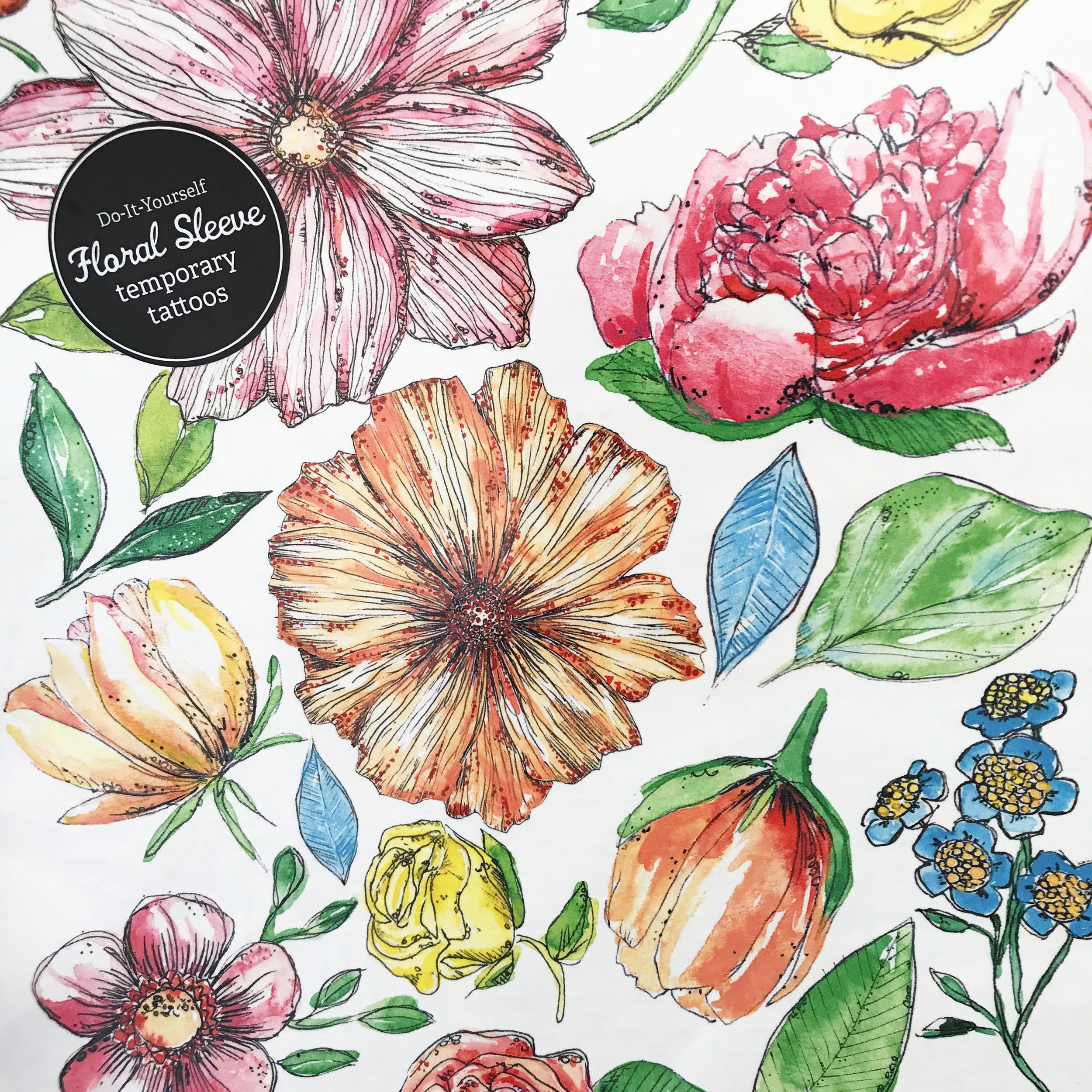 DIY Floral Sleeve Temporary Tattoos - Clever Mama