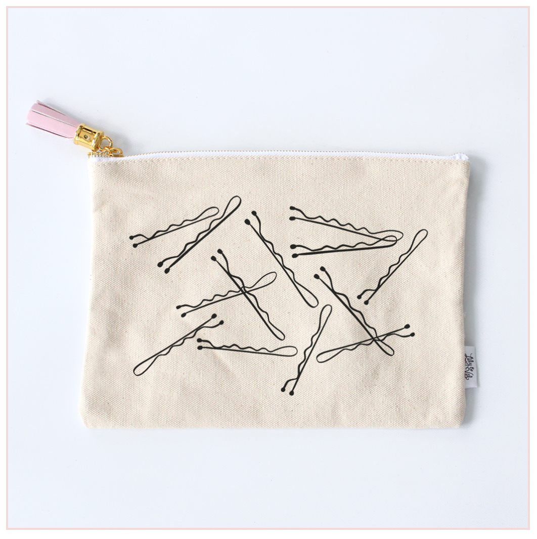 Bobby Pins Zippered Pouch - Lily and Val