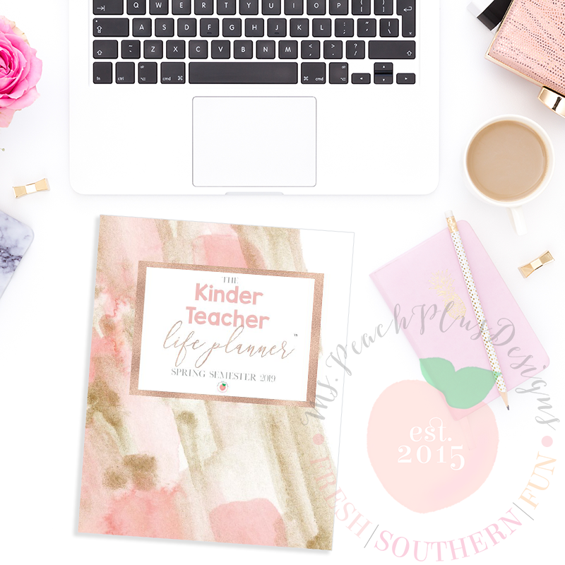 Kinder Teacher Planner - Ms. Peach Plus Designs