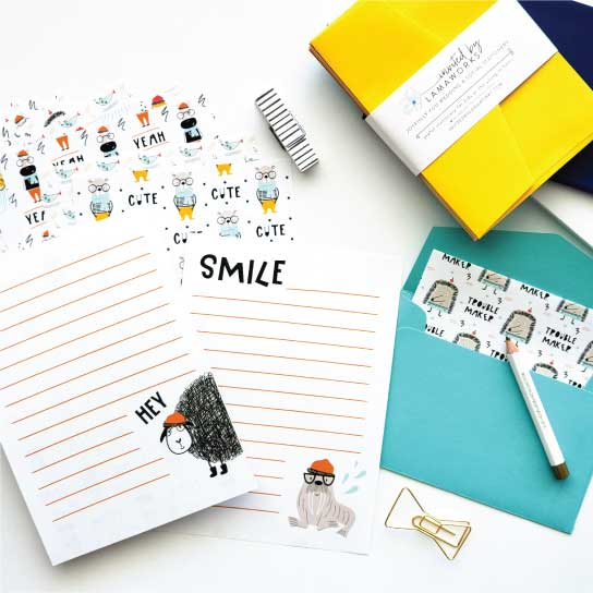 Kids Stationery Sets - Invited by LaMaWorks
