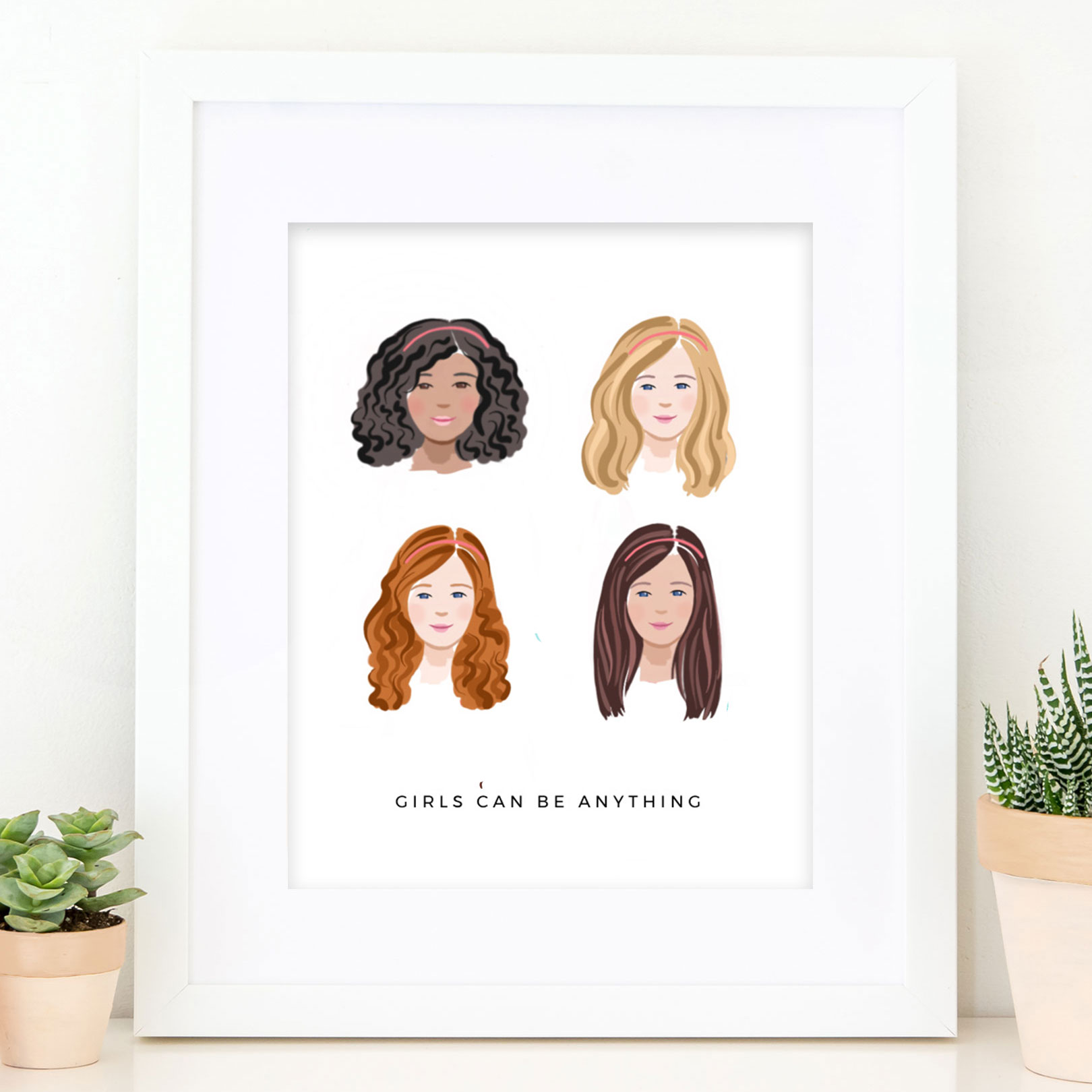 Girls Can Do Anything Print - Laura Knopp