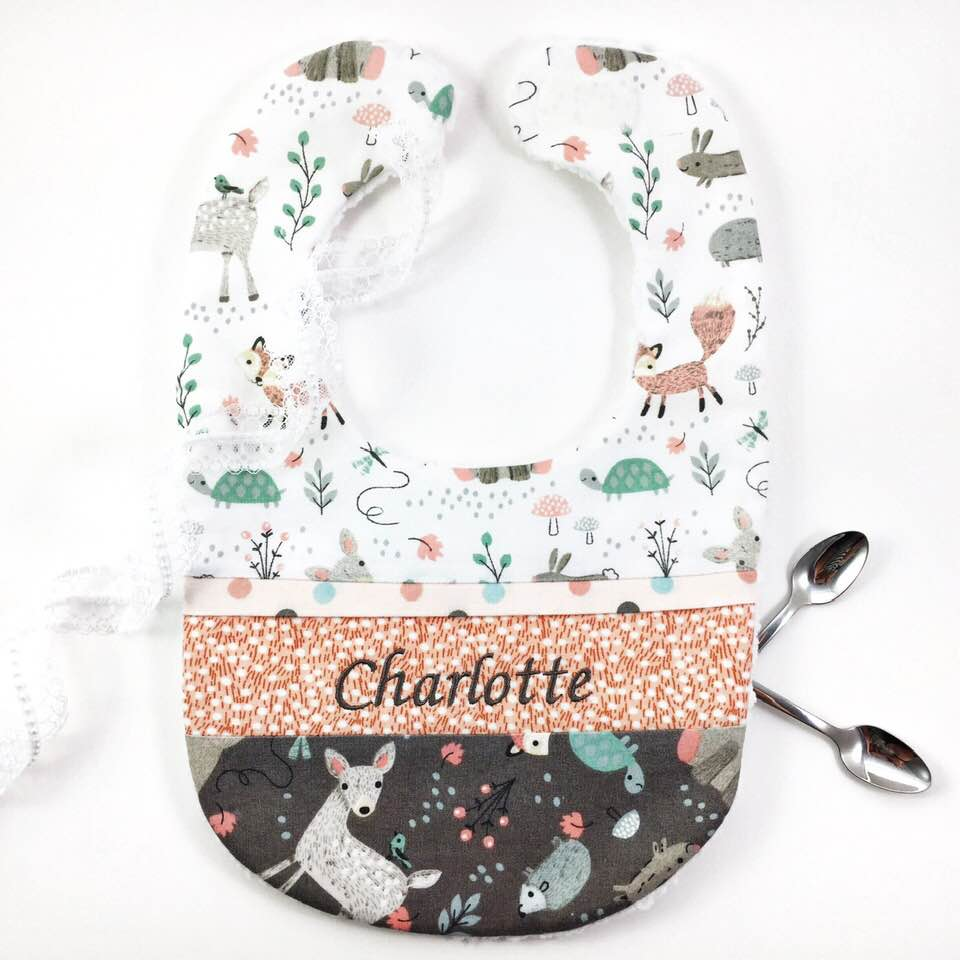 Quilted Baby Bib - Maddie B's Creations