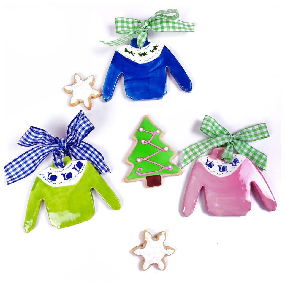 Preppy Sweater Ornament - For Pete's Sake Pottery
