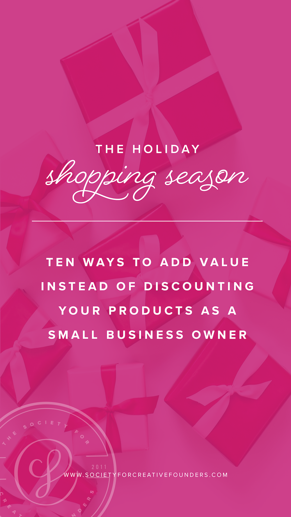 Shop Small Saturday Ideas for Small Business Owners - 10 Ways to Add Value - Society for Creative Founders