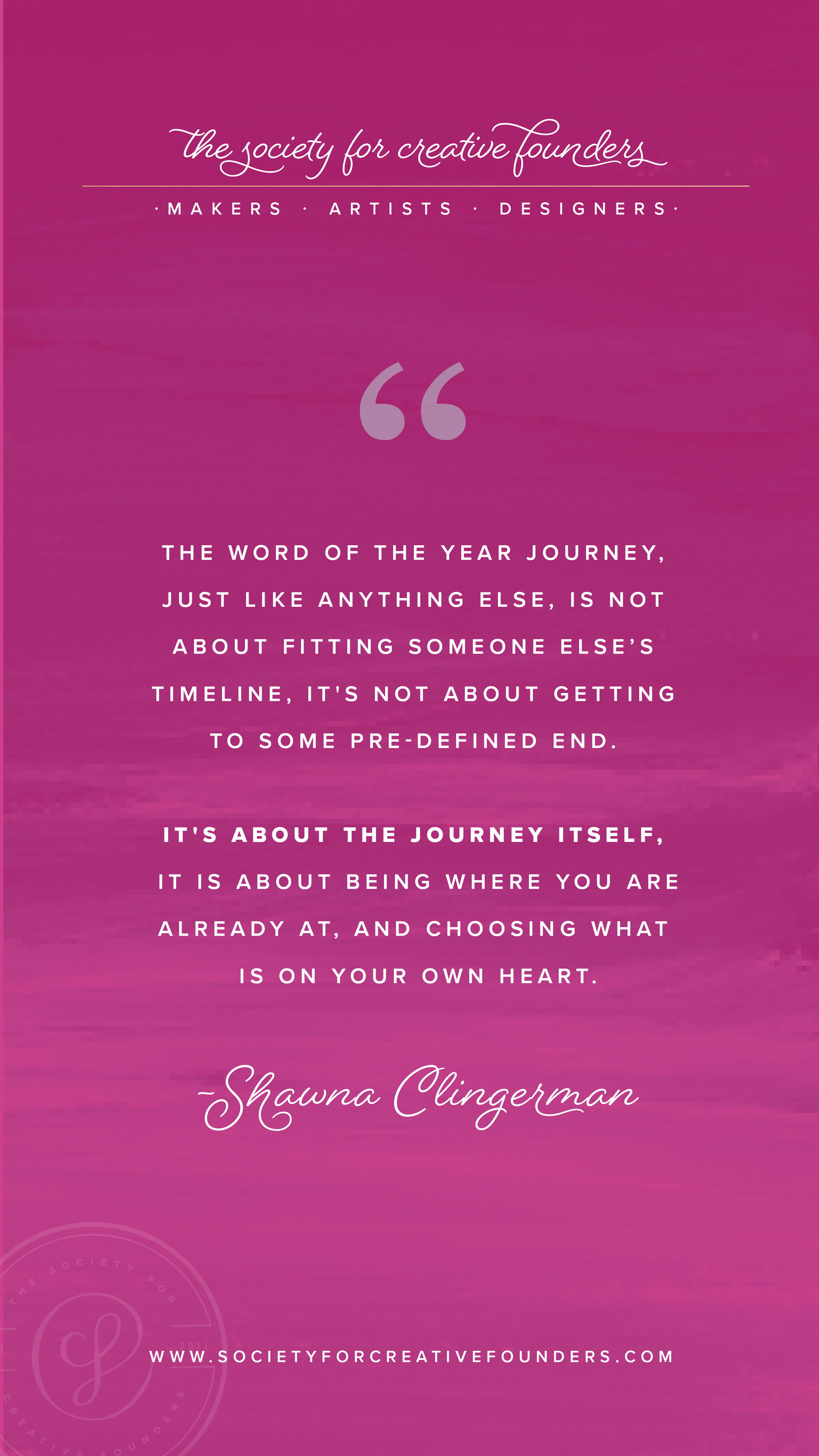 Word of the Year with Shawna Clingerman - Society for Creative Founders