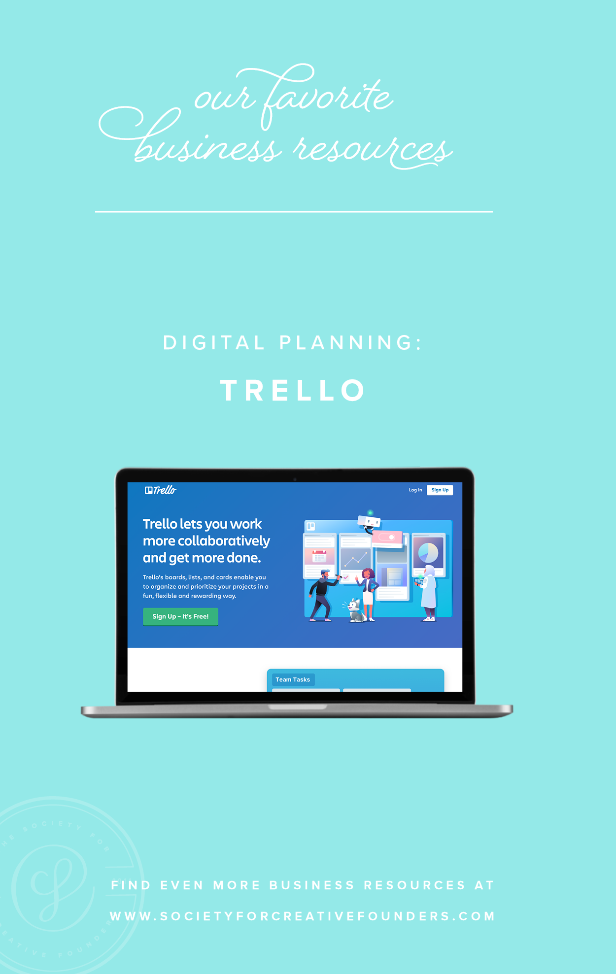 Digital Planning with Trello - Favorite Business Resources from Society for Creative Founders