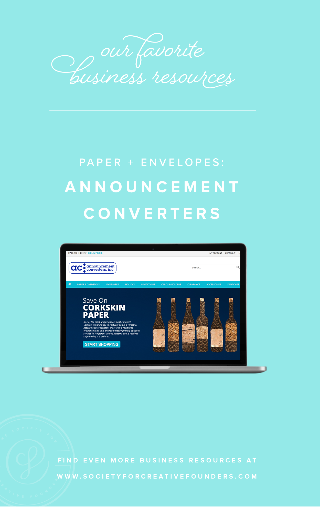 Announcement Converters - Favorite Business Resources from Society for Creative Founders