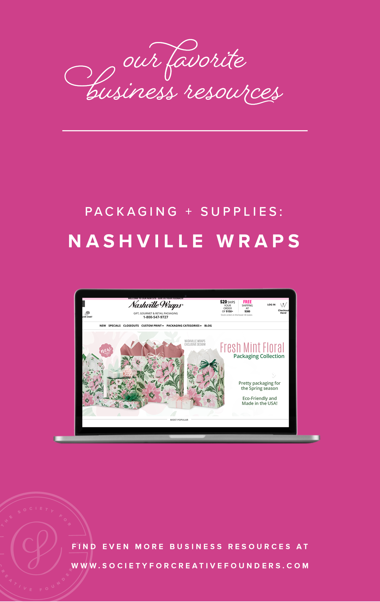 Nashville Wraps - Favorite Business Resources from Society for Creative Founders