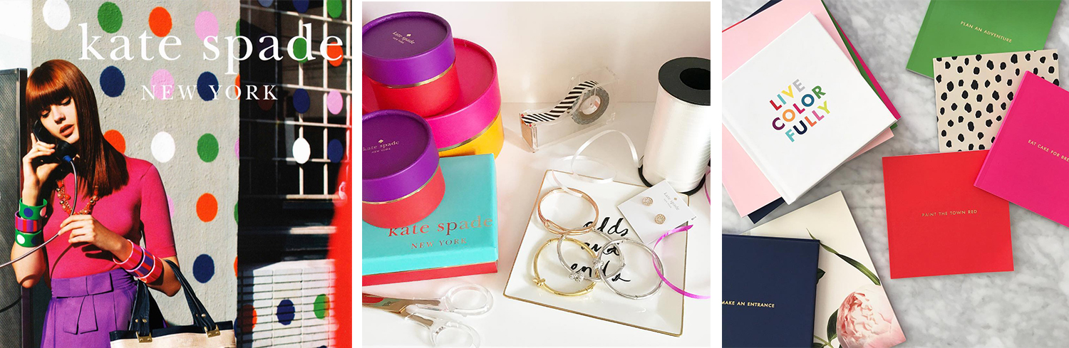 The Kate Spade brand is consistent in everything from their product design to their packaging to their messaging and advertising.