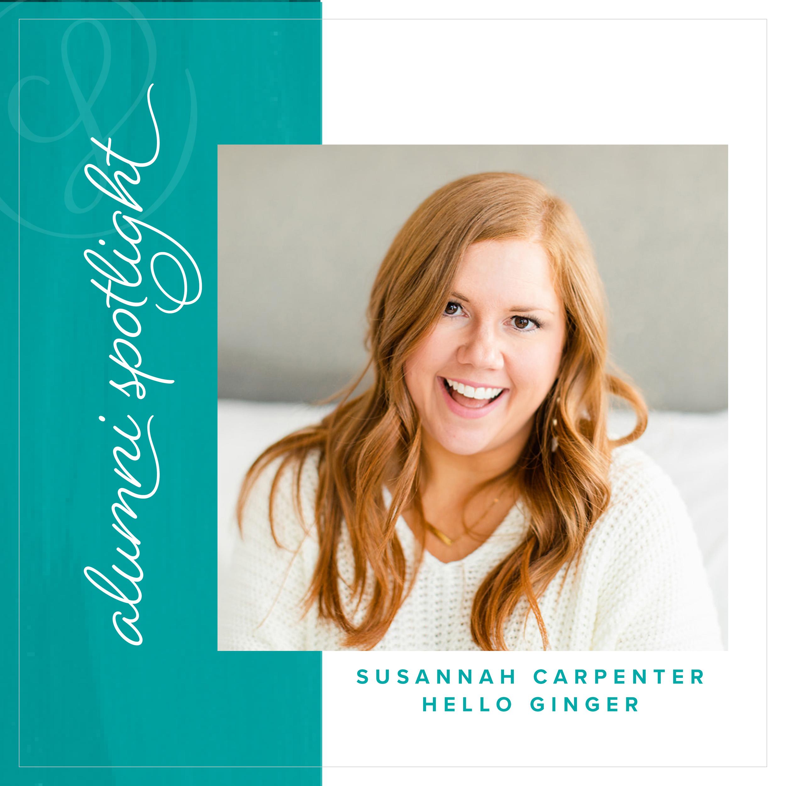 Susannah Carpenter of Hello Ginger - Alumni Spotlight for Society for Creative Founders