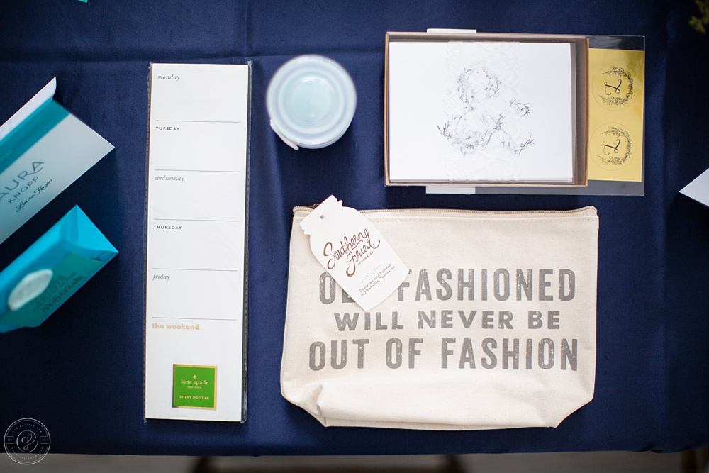 Day 4 also included items from our Conference Alums: A Weekly Notepad from  Lifeguard Press , Ampersand Notecards and Gold Stickers by  Invited by LamaWorks , A Custom Sea Salt + Orchid Candle by  Lettered Grace , and a Zipper Pouch by  Southern Fried Design Barn