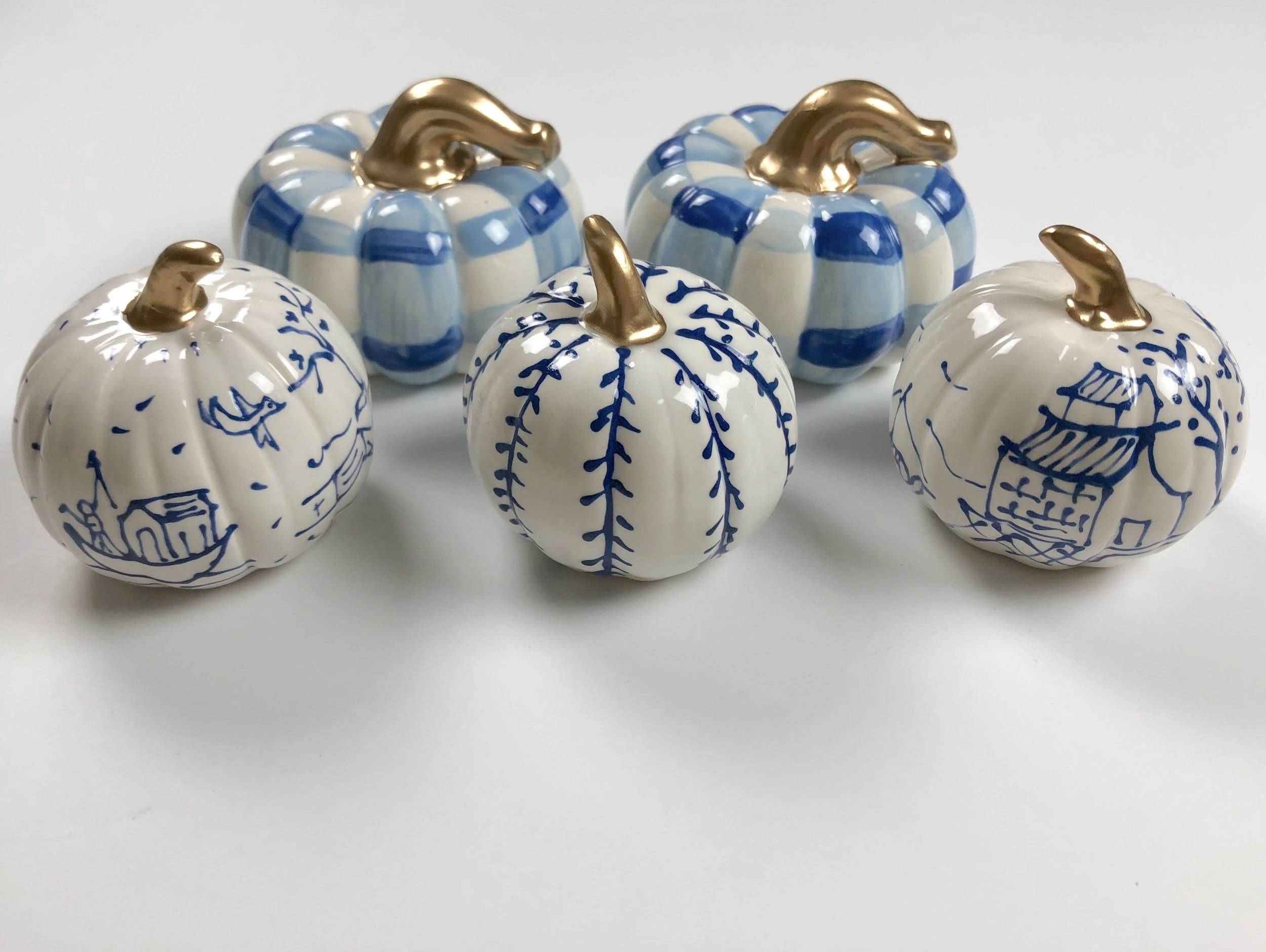 Mini Pumpkin Set - Susan Brown of For Pete's Sake Pottery