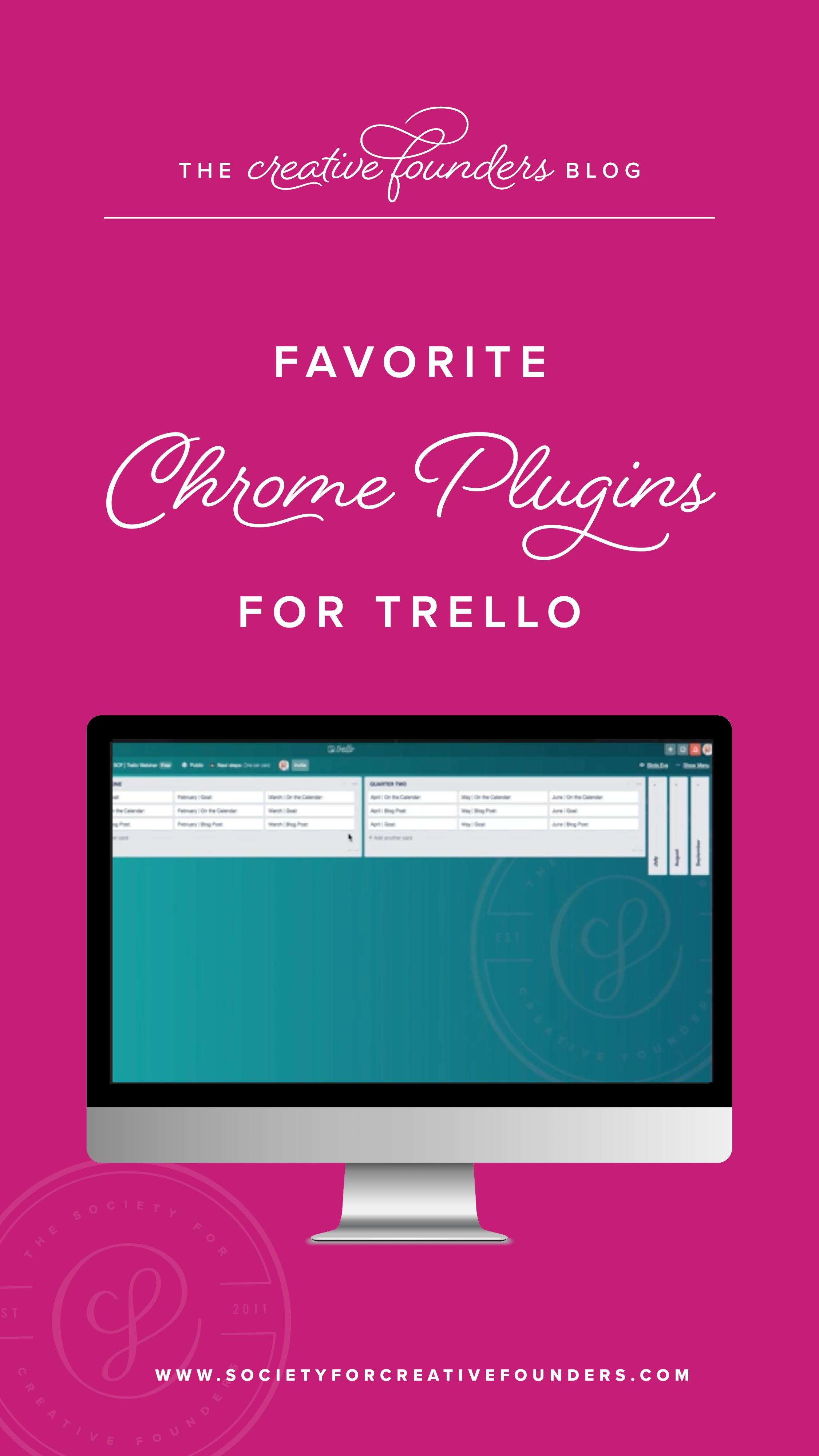 Favorite Chrome Plugins for Trello