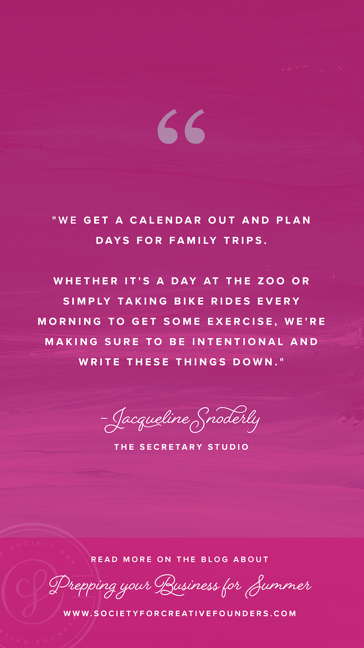 How to Plan for Your Business in the Summer - Society for Creative Founders