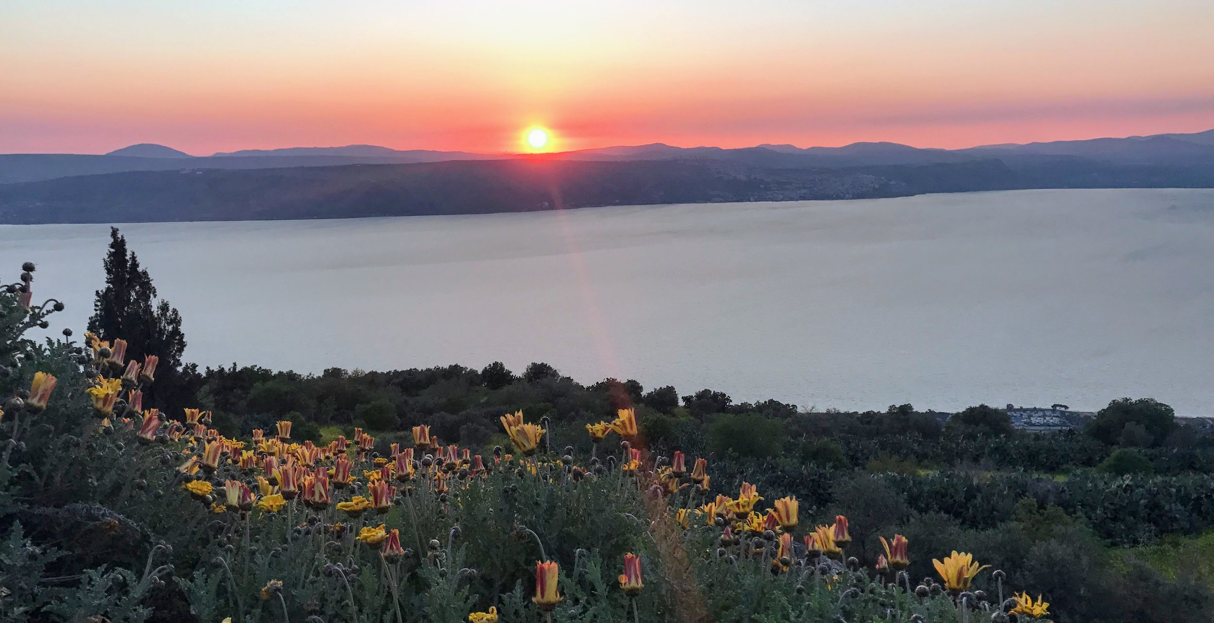 Sea of Galilee, taken at sunset from one of our most recommended accommodations.