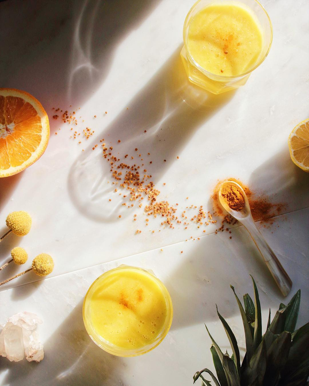 Pineapple Organge Lemon turmeric juice - Solar Pelxus