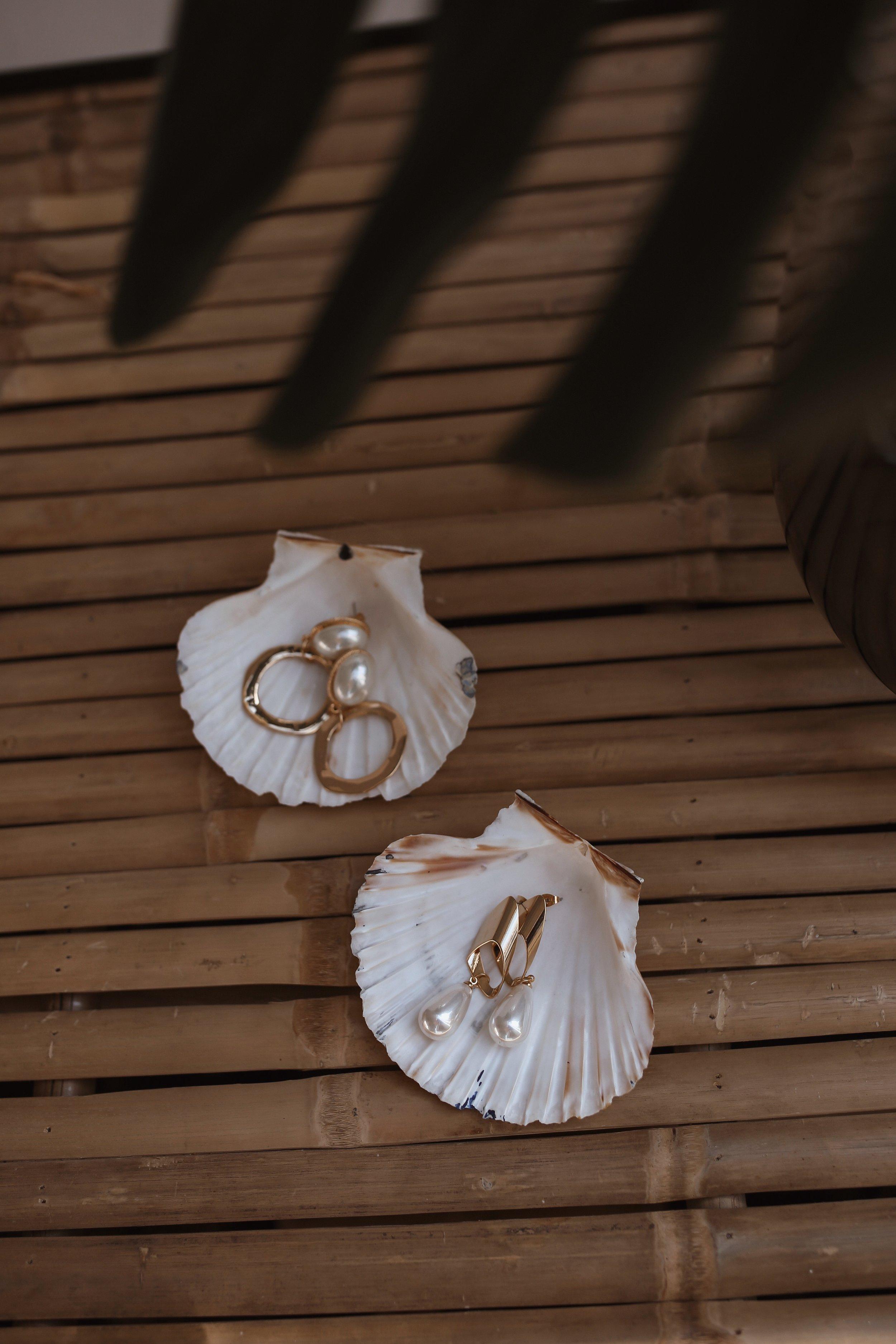 18K Gold Ohrringe mit echten Perlen