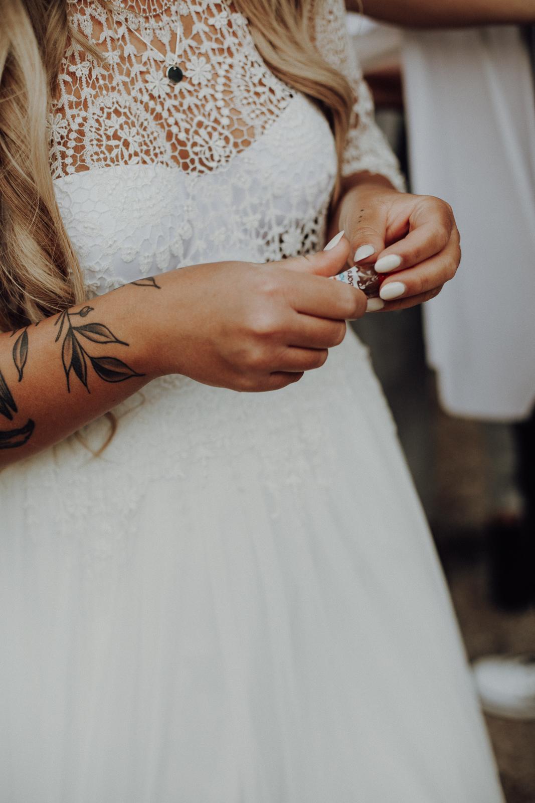 bridal lace details