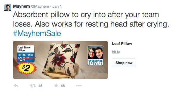 Mayhemsale Pillow