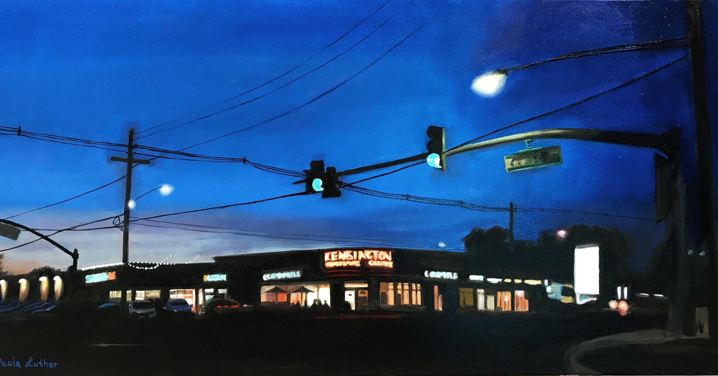 Kensington Corner Oil on Canvas