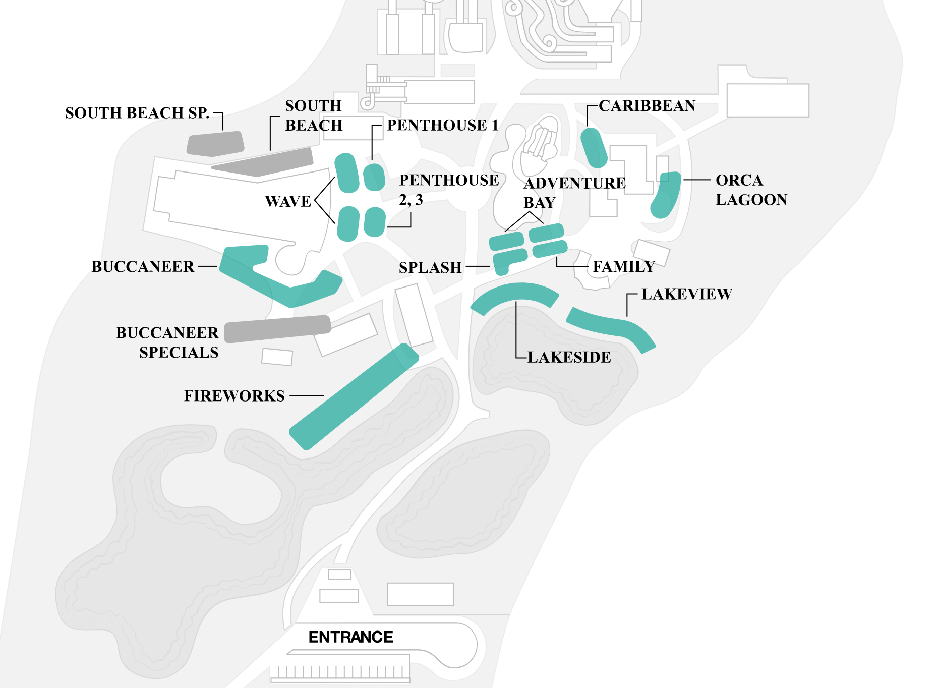 Map of Cabana Locations