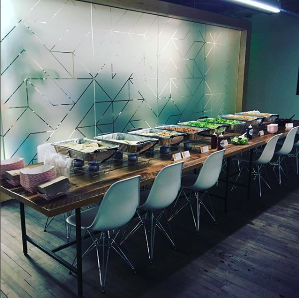 A TYPICAL DROP-OFF | TACO BAR PICTURED ABOVE