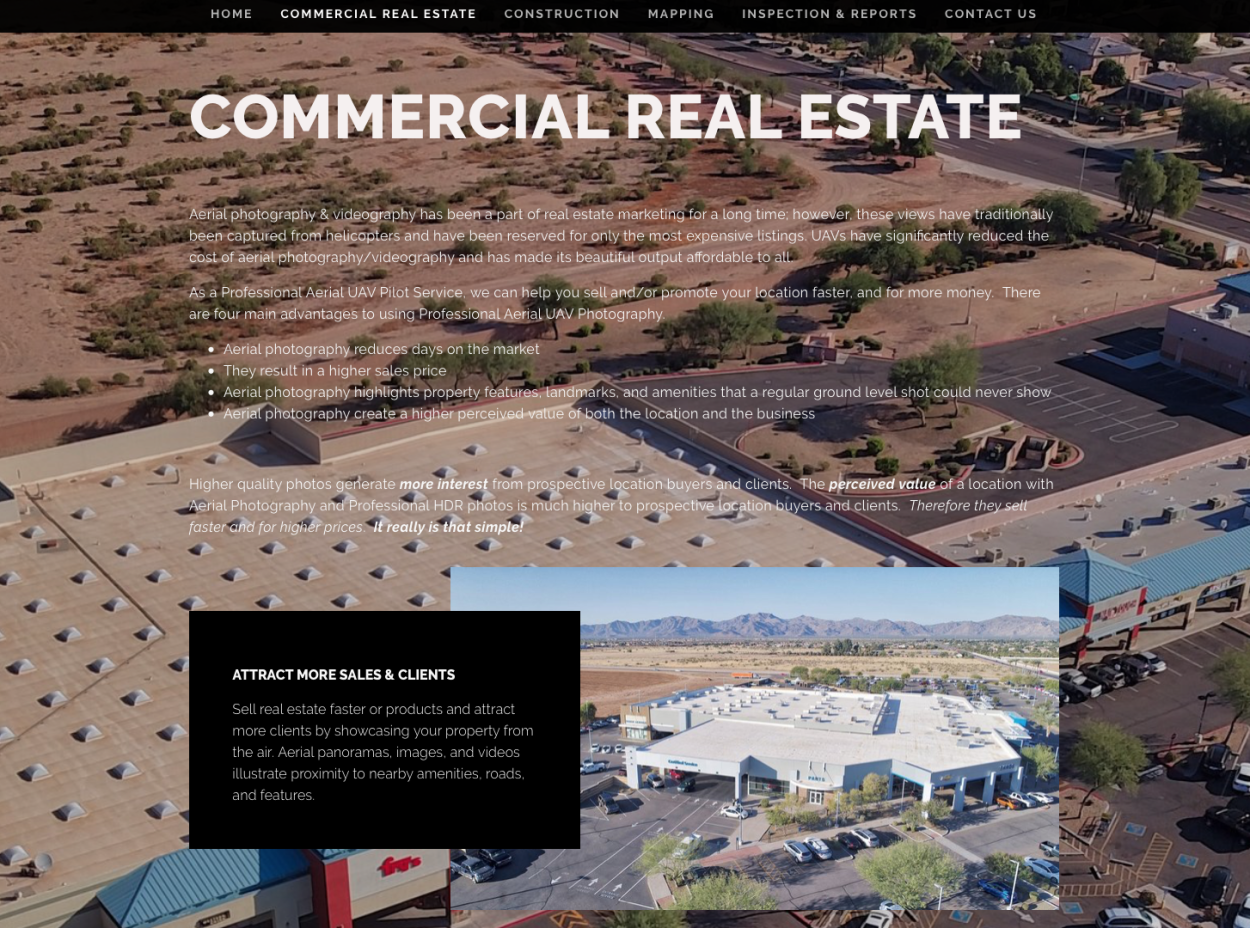 PREMIER UAV / DRONE AERIAL NOW HAS COMMERCIAL REAL ESTATE DRONE SERVICE