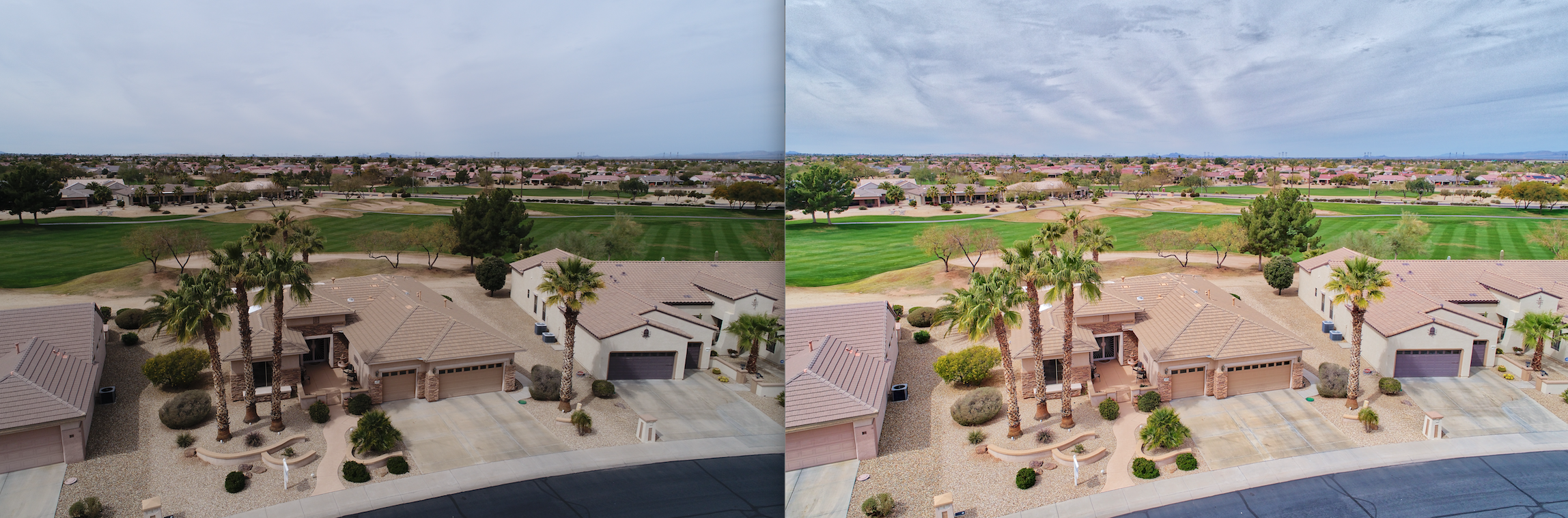 Premier UAV Aerial Residential  Real Estate Services - Before and After