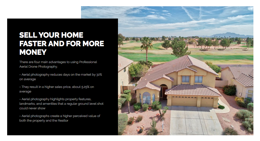 Premier Drone / UAV Aerial is helping Arizona Real Estate agents sell more homes for FREE.