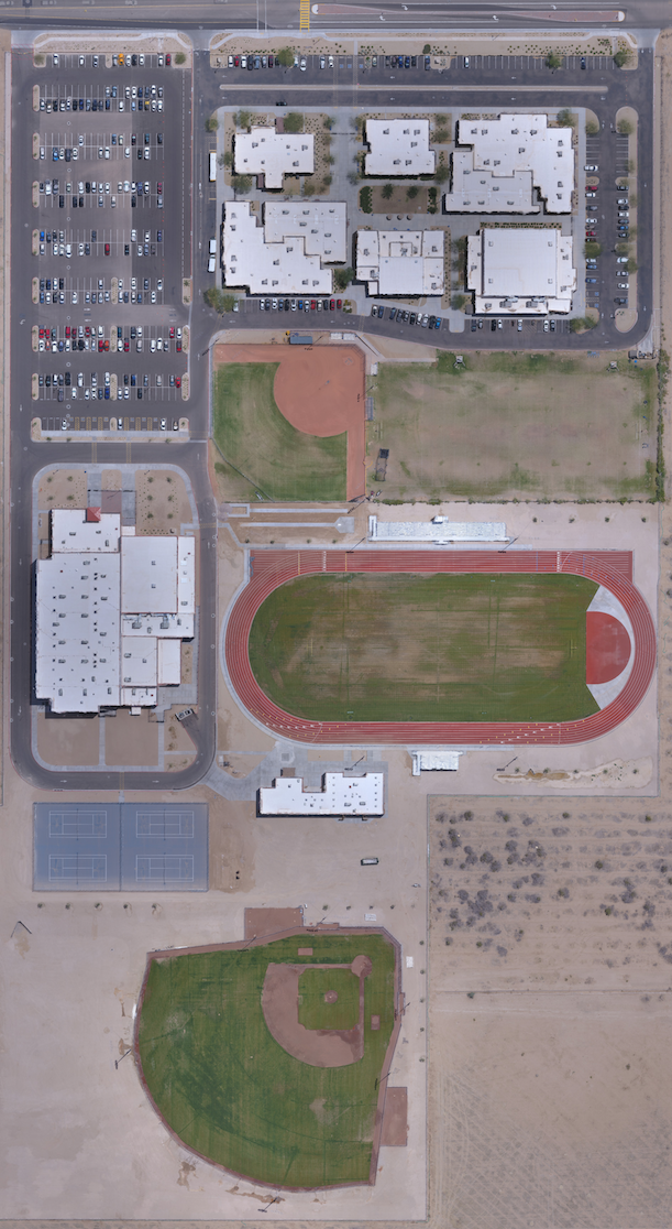 Orthomosaic Mapping taking place at Paradise Honor High School in Surprise, AZ