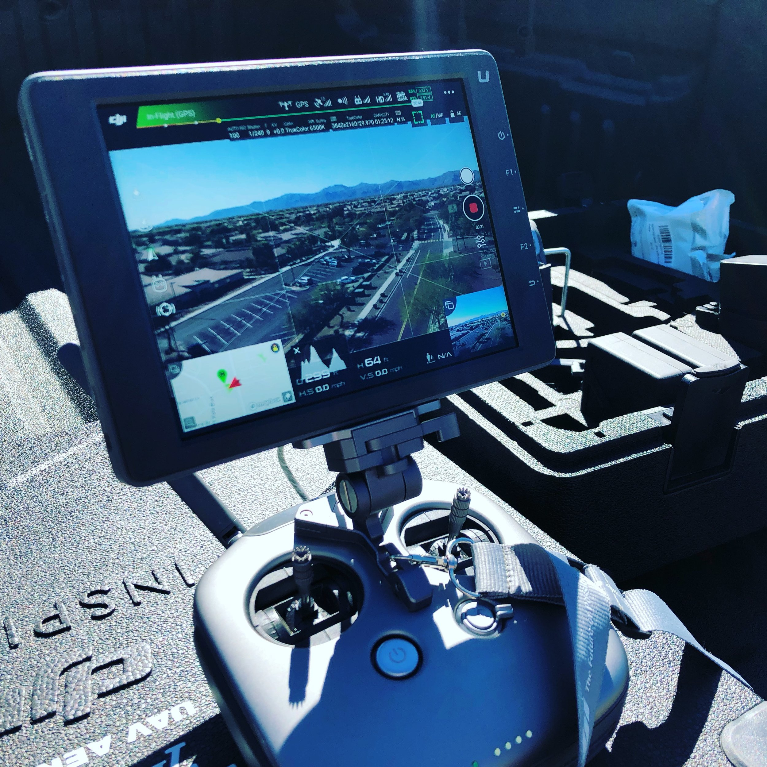 UAV's used to observe & evaluate school fire drill in Surprise, AZ