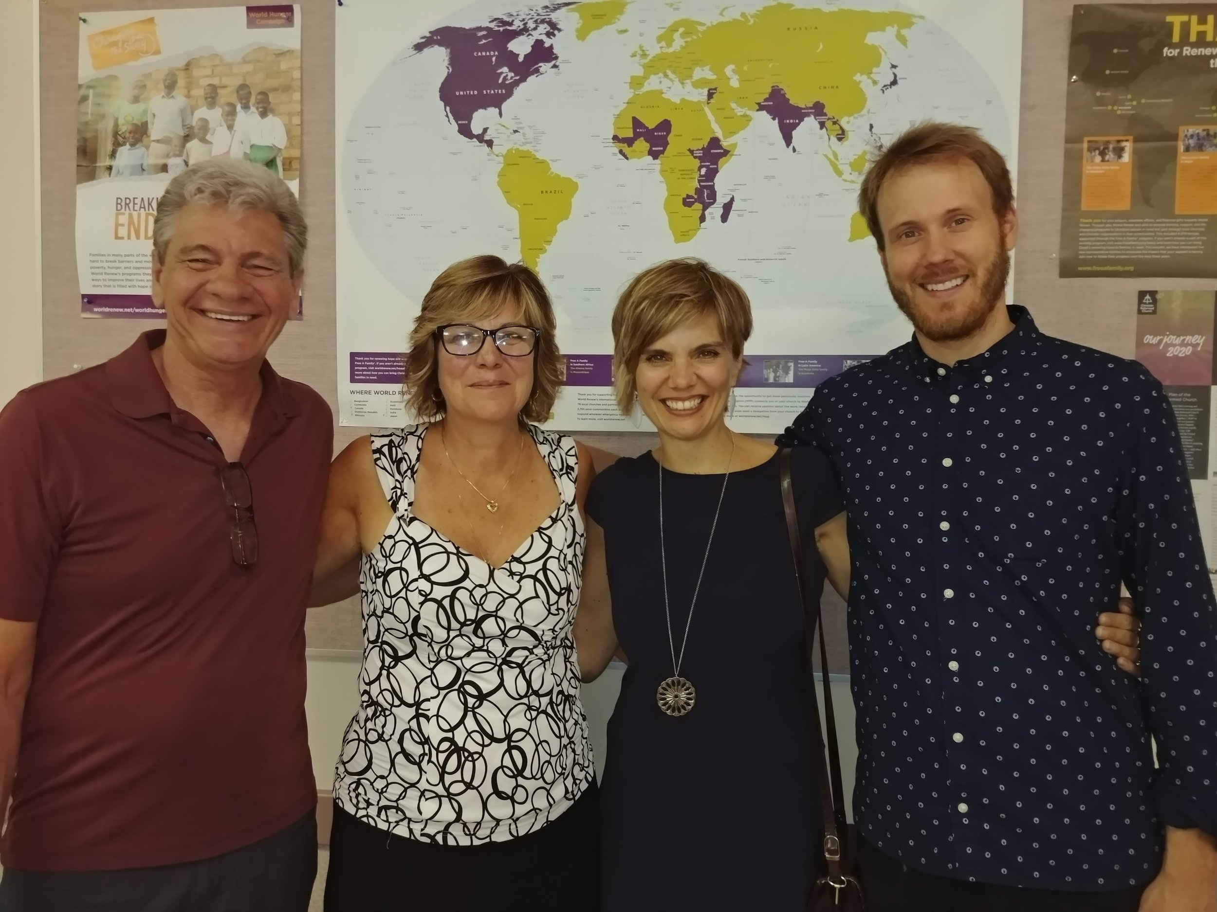 Pastor Kasey with wife Liz and Lara and Jeremy. -