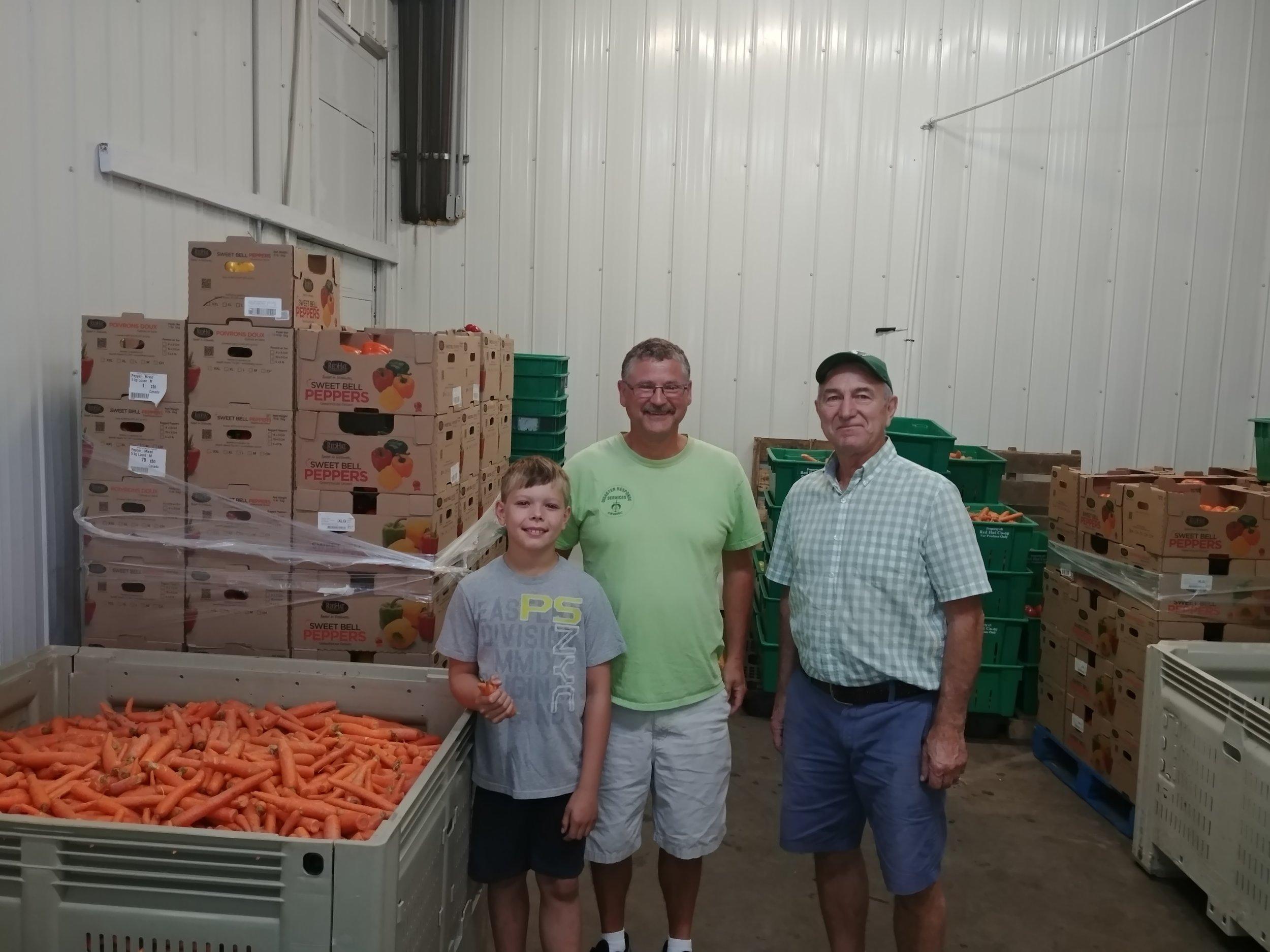 Isaiah, George and Ken at Prairie Gleaners