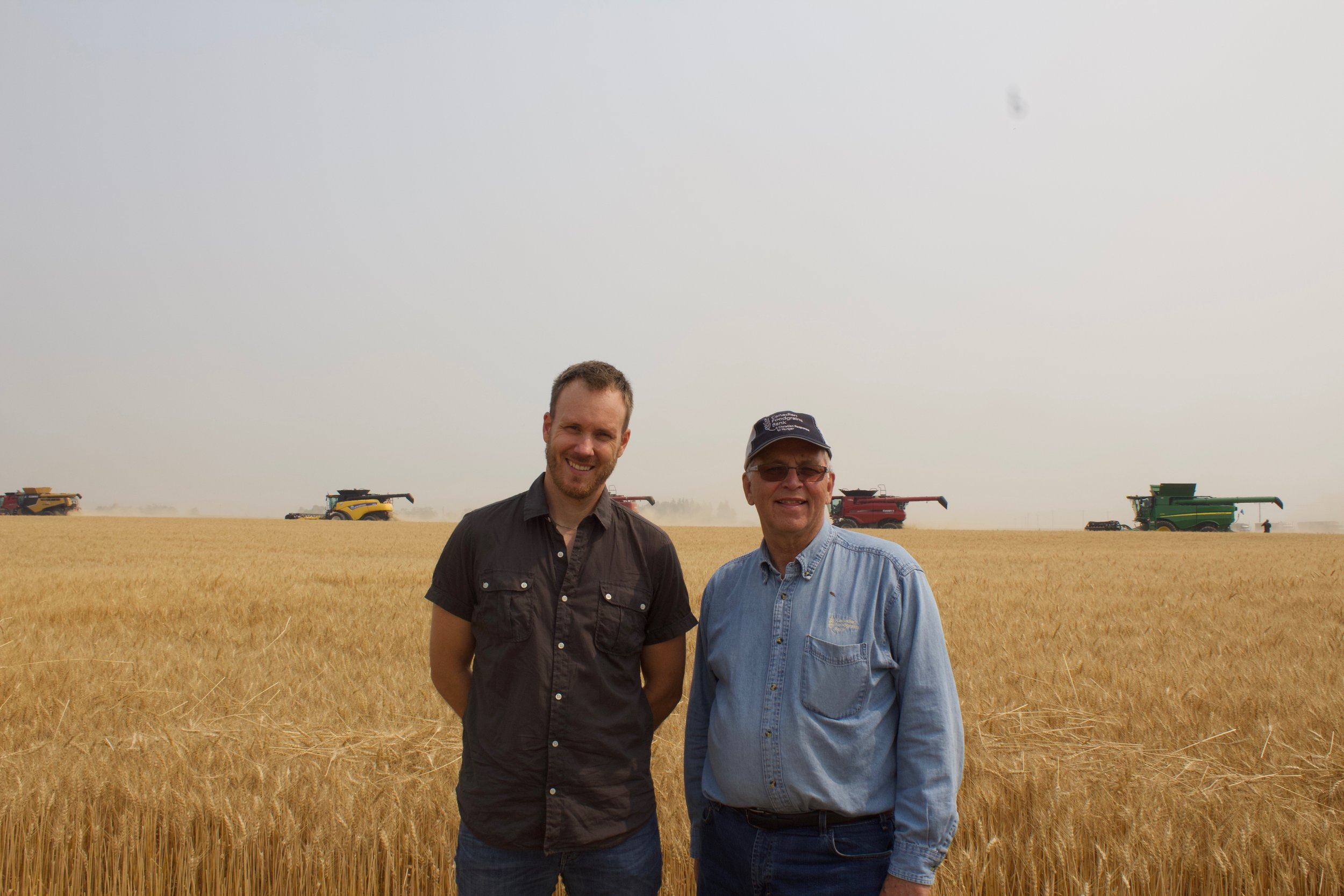 Andre and Jeremy at the Taber Harvest. -