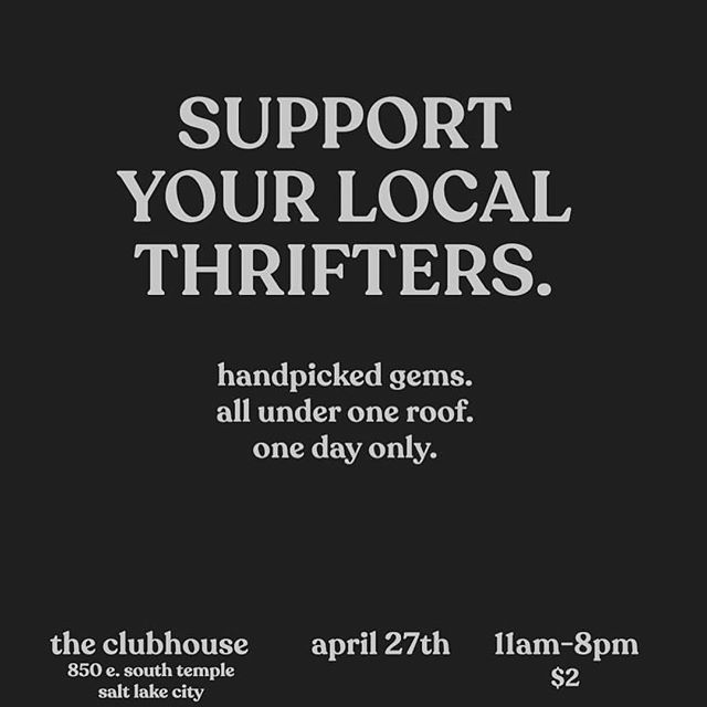 On Saturday! Come play dress up with me and so many other wonderful curators at the @clubhouseslc for a vintage market ✨