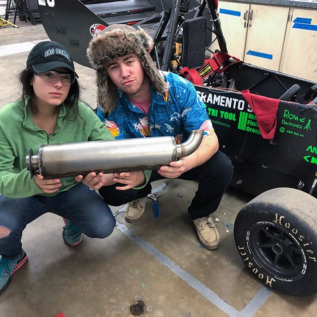 Exhaust team testing their muffler prototype on the HR2018 earlier tonight