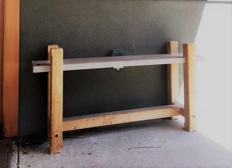 Simple precast concrete and Douglas Fir bench collaboration with Dan Jovick