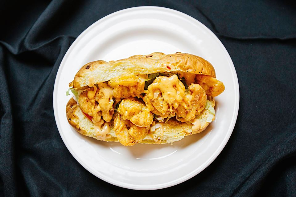 Bayou on the Vine Kansas City Shrimp PoBoy