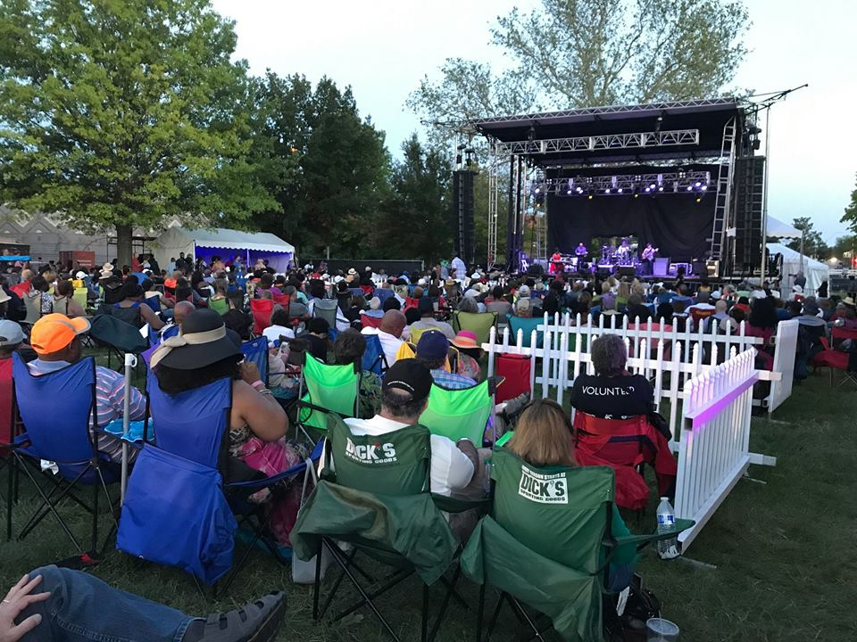 Outdoor concert at the American Jazz Museum