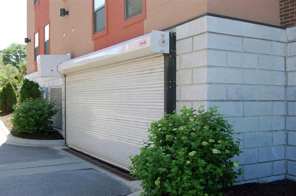 Jazz District Apartments - Garage Door Image