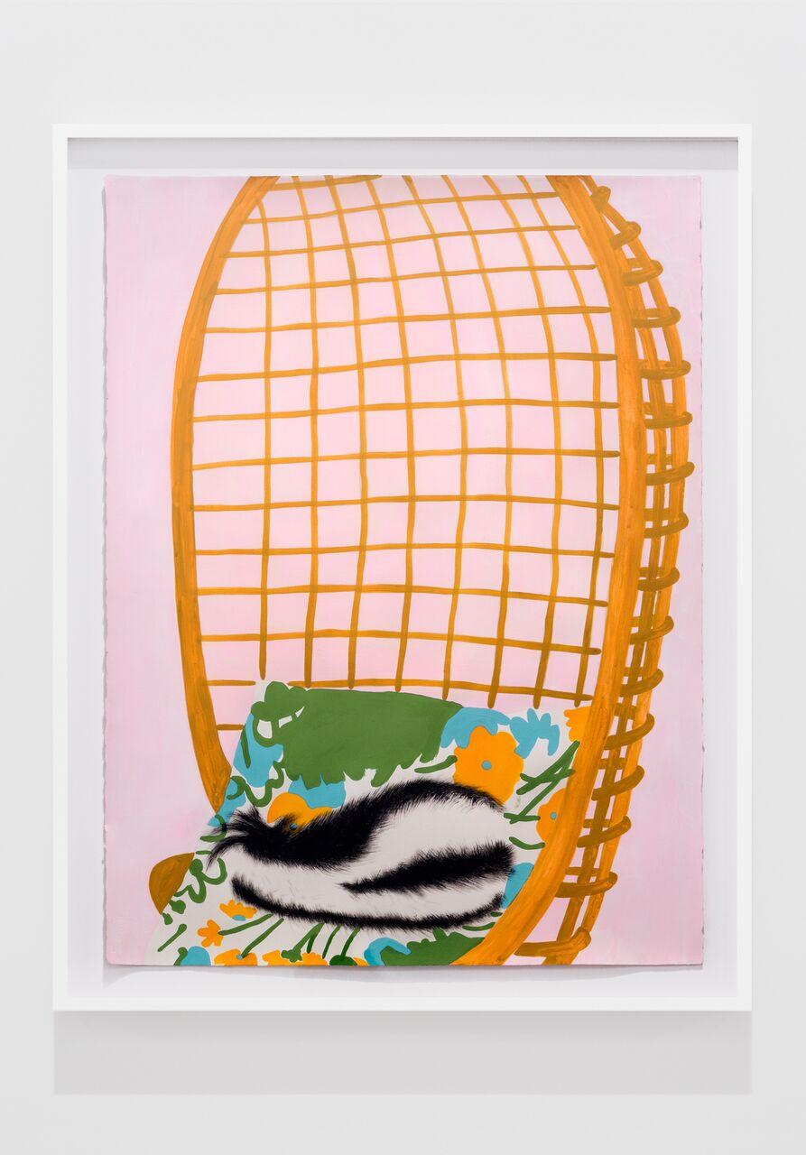Skunk in Basket Chair #2