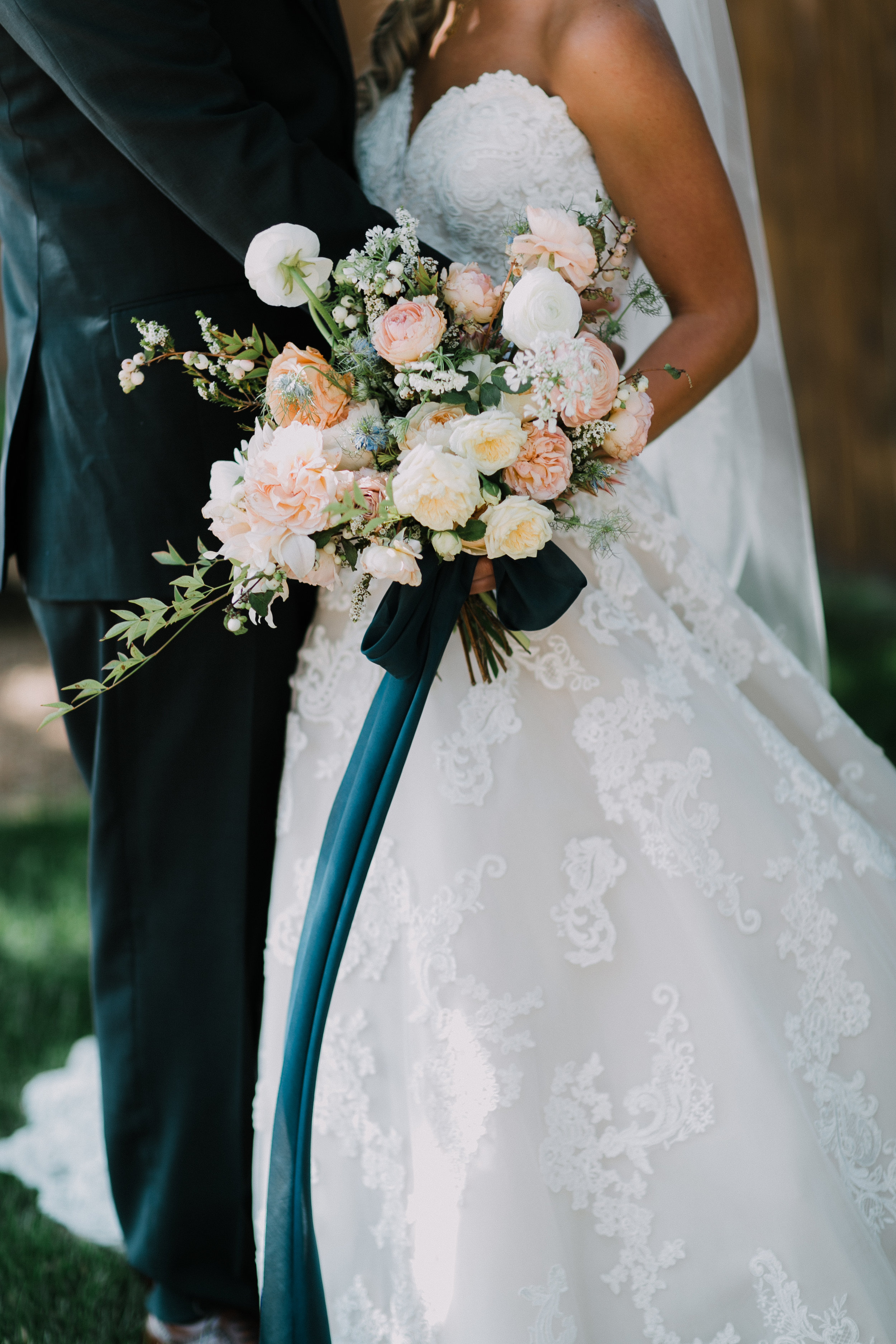 Peach & Blue Garden Wedding -