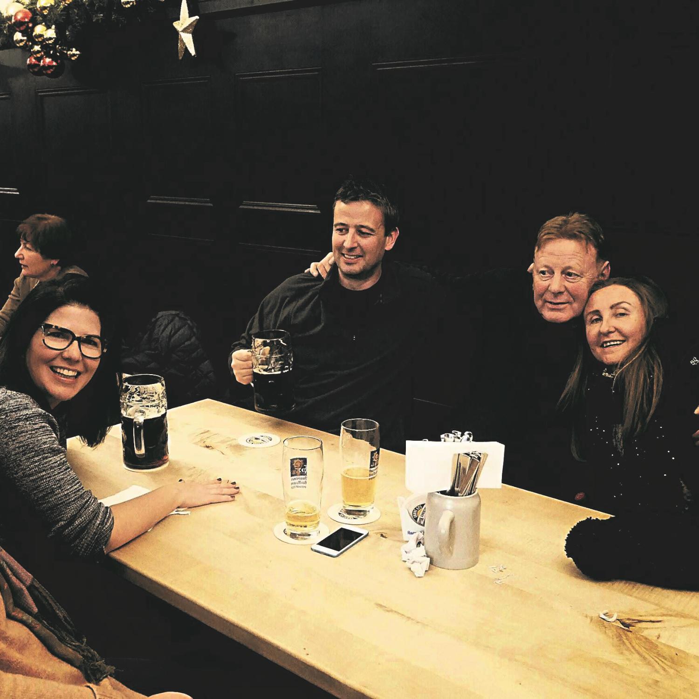 Sharing Stories & Ideas, Taken in a Munich Bierkeller, Germany
