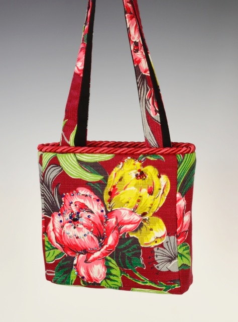 Medium Square Bag with Hand Beading