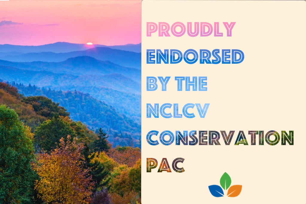 NC League of Conservation Voters -  I am honored to be endorsed by the NC League of Conservation Voters. Once elected I plan to ban offshore drilling and fracking, and fight to bring renewable energy to North Carolina.Learn more: https://nclcv.org/